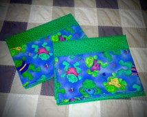 Pillowcases, queen size, standard size, pillowcases,frog pillow cases, kids pillow cases set of 2 or buy seperate