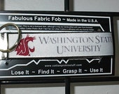 Washington State WSU Cougars Emblem Logo ~ M47 ~ Key Chain Fob ~ Zipper Pull