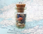 Treasure Bottle of Irish Shells Irish Sea Shells Collection in Glass Vial Beachcomber's Treasure Collected in Ireland
