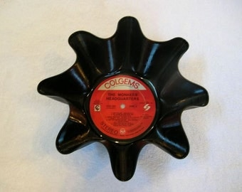 Monkees Record Bowl Made From Recycled Vinyl Album, Davy Jones Micky Dolenz