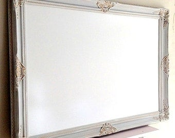 large dry erase board whiteboard bulletin board gray grey french country decor memo board office kitchen - Large Dry Erase Board