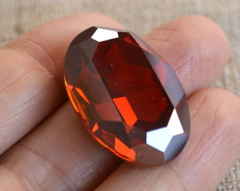 Swarovski Crystal 30x22mm Crystal Red Magma Foil Back Faceted Oval Fancy Stone Model 4127