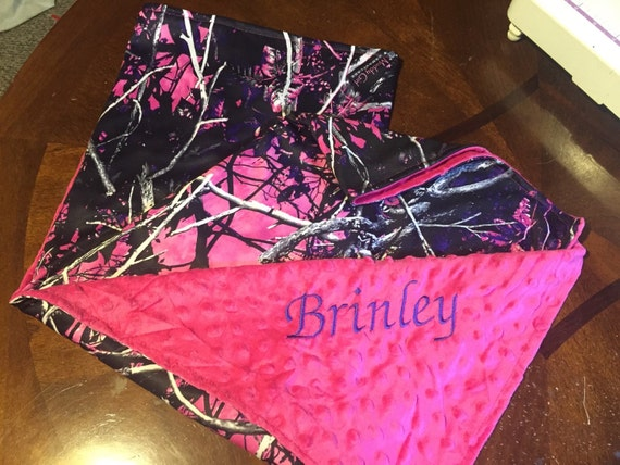 Muddy Girl Camo Baby Blanket Free Personalization