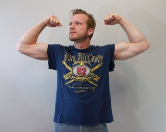 Vintage 90s Mark McGwire Cut Off T Shirt Tank