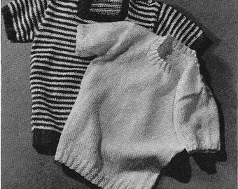 Vintage Knit Baby Pullover Pals PDF Pattern