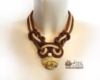 Sand curves necklace. FREE SHIPPING
