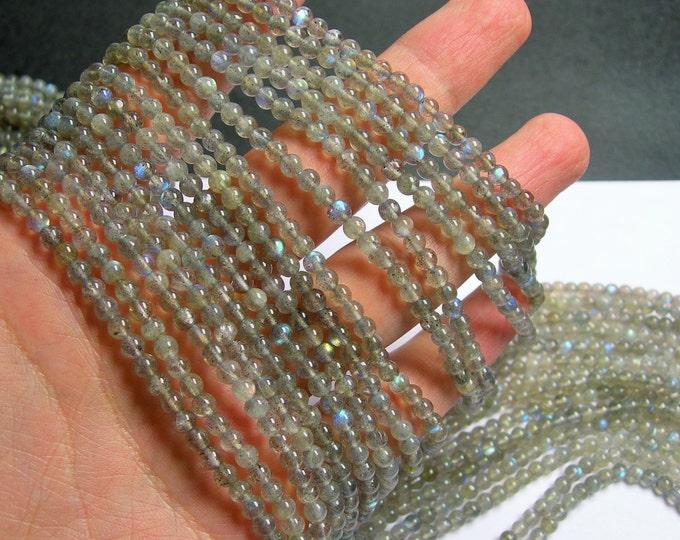 Labradorite - 4 mm beads -1 full strand - 103 beads  - RFG841