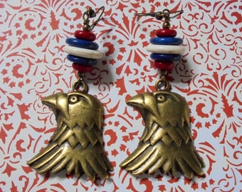 Patriotic American Eagle Earrings (2710)