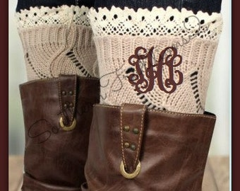 Monogram Boot Socks - Monogram Boot Cuffs -