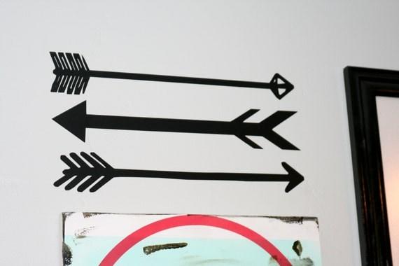 Arrow Decals, Arrow Stickers, Arrow Home Decor, Arrow Decoration, Arrows, Choose Your Color, Removable & Repositionable, Vinyl Decals