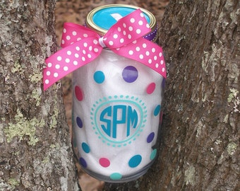 Monogrammed Personalized Jar Coin Piggy Bank
