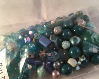 Vintage Lot of Turquoise Beads 2.5 oz