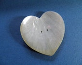 MOP Shell Large Heart Button 2.5 Inch