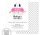 Puppy Pawty Birthday Printable Party Invitation - Birthday or Baby Shower - Petite Party Studio
