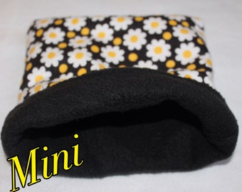 MINI Sunflower Print pouch for ONE rat, Hamsters, Mice.. and other small pocket pets.