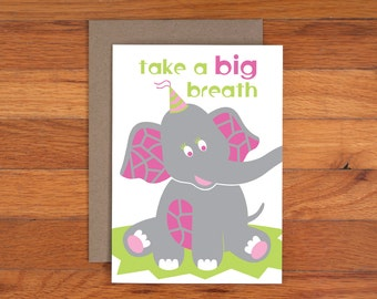 Elephant Card - Birthday Card - Funny - Kids Birthday Card
