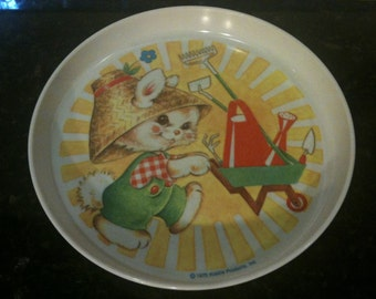 Vintage Kiddie Products Rabbit Plate
