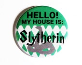Harry Potter Pinback Buttons Geeky Accessories Slytherin Hogwarts Green Plaid Fandom Apparel