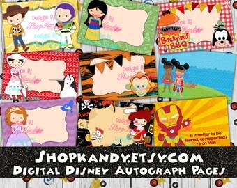 Disney Autograph Book - Disney Vacation Autograph Album - Disney World Autographs - Disneyland Autograph Album - Disney Cruise