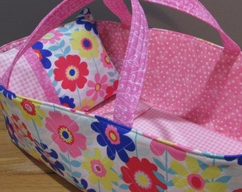 Doll Carrier, Will Fit Bitty Baby and Stella Dolls,Flowers, Pink Lining, 16 Inches Long