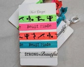 Fitness and Workout Hair Tie/Bracelet Set of 5