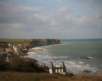 "Fine Art Photograph ""Beauty From Ashes "" Gold Beach Normandy France D Day WWII Wall Art Print Photograph Beach Decor Ocean Coast Cliff"