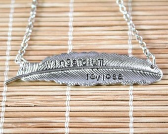 Harry Potter Feather - Wingardium Leviosa Levitation, Hover Charm Necklace - Silver - Harry Potter Inspired