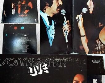 Vintage Vinyl Record, Sonny & Cher Live, 1971, Music Memorabilia, Kapp Records, KS 3654, Collector's Item
