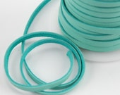 3MM Deerskin Lace - Turquoise - 1 yard H-DS50TQ