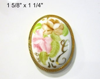 Vintage Painted Flower Initial E Brooch Magnet Super Strong Upcycled Vintage Jewelry Gift Idea Under 10 Hostess Gift Kitchen Decor