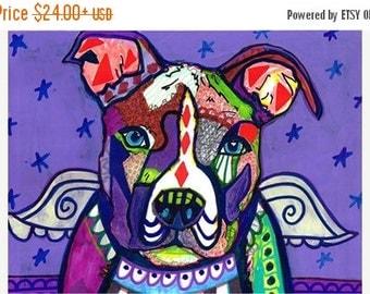 55% Off- pit bull Angel PIT BULLS American Pit Bull Terrier art dog  Art Print Poster by Heather Galler (HG759)