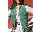 Vintage Crochet Jacket Pattern PDF 743 from WonkyZebra