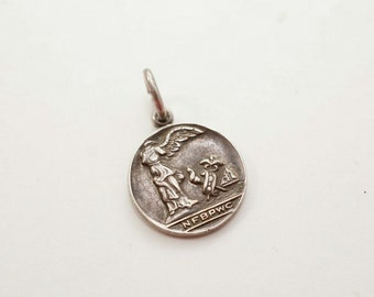 Vintage Sterling Winged Angel National Federation Of Business And Professional Women's Clubs Charm