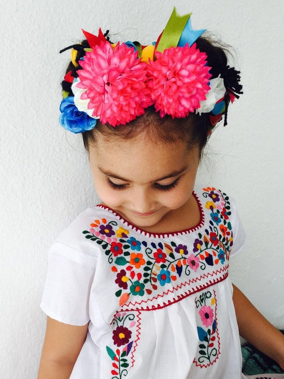 Mexican embroidered girls dress