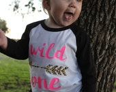 Wild One Infant raglan, baseball tee, cheetah baseball tee, arrow raglan, cheetah raglan