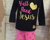 Y'all need Jesus Boutique outfit