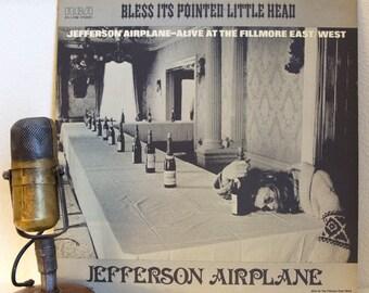 "ON SALE Jefferson Airplane Vinyl Records Album LP 1960s Live Classic Rock Acid Psychedelic Trip ""Bless It's Pointed Little Head"" (1975 Rca r"