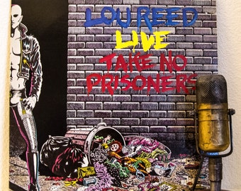 """Lou Reed Vinyl Record Album 1970s LIVE Classic Rock New York Hipster """"LIVE: Take No Prisoners"""" (1978 Arista w/""""Walk On The Wild Side"""")"""