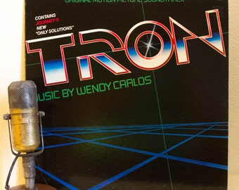 """ON SALE Tron (w/two Journey tracks) Vinyl Records 1980s Science Fiction Sci Fi Computer Synthesizer Geekout Adventure Wendy Carlos """"Tron"""" (1"""