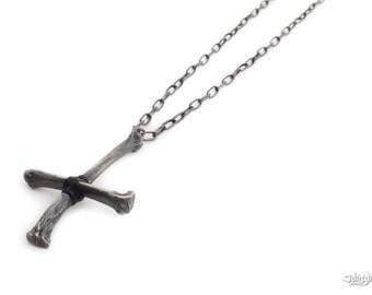 INVERTED CROSS COYOTE Bone Necklace