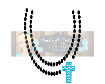 Chevron Cross Necklace Design Svg Dxf Png Commercial Use SVG   Baby Jumpsuit Design   Girl Clothes svg   Pearl Necklace svg   chunky bead