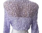 Bridal Bolero, Knit Purple Lilac Wedding Bolero, Bridemaids Sleeves, Shrug, Wrap, Weddings, Bridesmaid, Bridesmaids Bolero