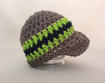 Newborn Baby Boy Hat, Coming Home Outfit,  Crochet Hat, Photo Prop, Infant Hospital Hats, Infant Boy, Newsboy Hat, Newsboy Cap, Baby Beanies