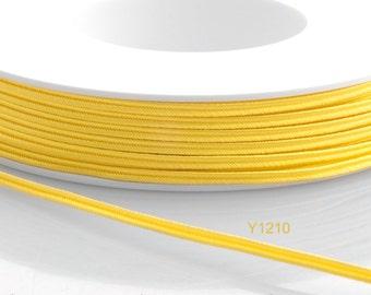 Soutache braid - Cellulose Acetate flat 3mm soutache cord - maize yellow (Y1210) - 5 meters
