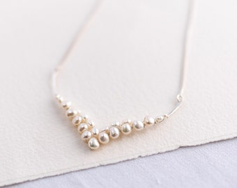 Pearl Sculpted Wedding Necklace