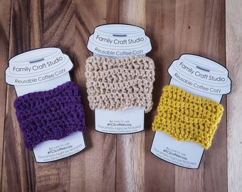 Made-to-Order 3-Set 1-Color Wave Coffee Cozies