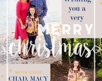 Holiday Wishes - Custom Photo Christmas Card