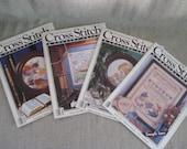 Vintage Cross Stitch & Country Crafts Magazine / 4 Issues of 1980's Cross Stitch Magazine