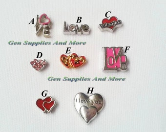 Love Charm   I Love You Charm   Valentine Charm   Floating Charms For Floating Lockets    Personalized Floating Memory Locket