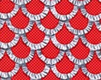 Michael Miller Apron Ruffles Red fabric - 1 yard
